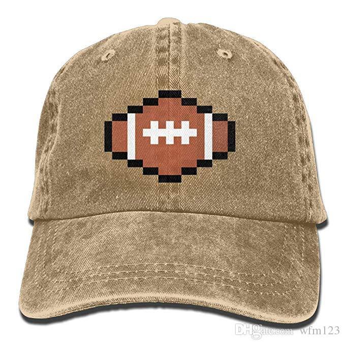 2019 New Designer Baseball Caps Rugby Ball Pixel Art Mens Cotton ... 7839af23cf4e