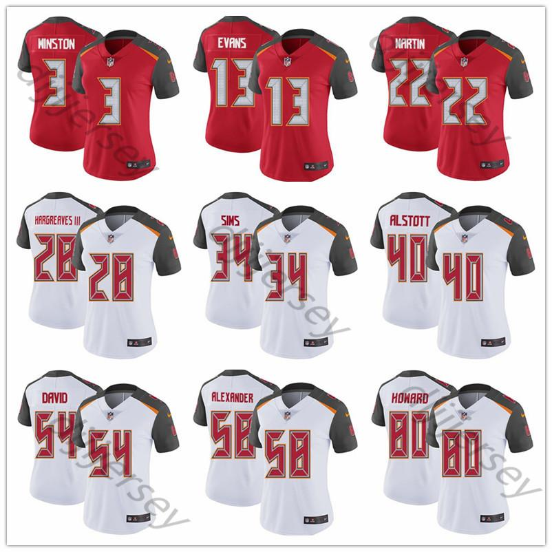new arrival baba1 eb8ae Custom Tampa Bay Men s Buccaneers Mike Evans Jameis Winston Derrick Brooks  45 White Women Youth Vapor Untouchable Limited Football Jersey