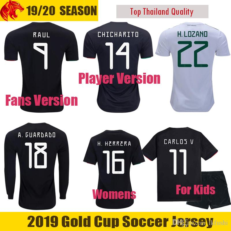 52170a7f5 2019 Fans   Player Version Mexico Soccer Jerseys 2019 Gold Cup CHICHARITO  Jersey DOS SANTOS H.LOZANO Long Sleeve Mens Womens Mexico Kids From  Lkfushi