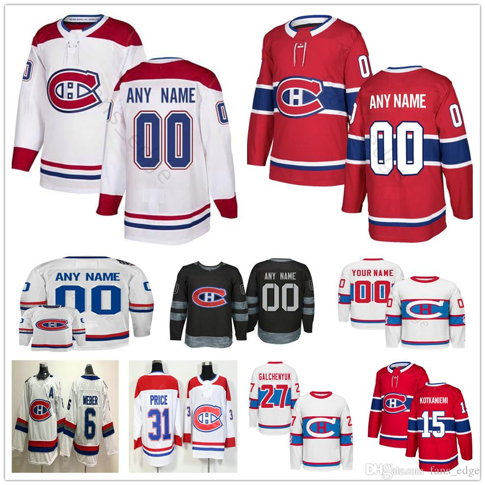 4f1853567 2019 Custom Montreal Canadiens 20 Nicolas Deslauriers 15 Jesperi Kotkaniemi  33 Roy 37 Antti Niemi 13 Max Domi Men Women Kids Youth Hockey Jerseys From  ...