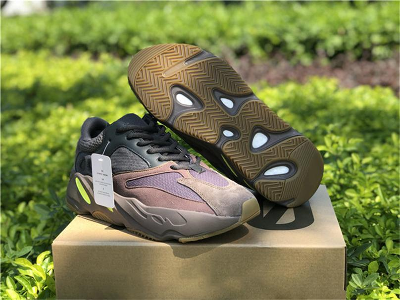 dde6ddba248c5 2019 2018 New 700 Mauve Kanye West Runner Wave Runner Purple 3M Sports  EE9614 Sneakers 700 V2 Static Outdoor Shoes Authentic With Original Box  From Aassqq