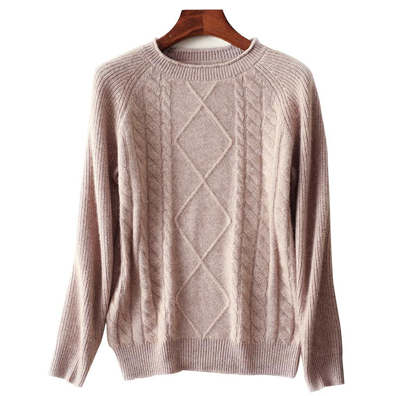 bfb57481182c 2019 Luxury Diamonds Srquines Cashmere Knitted Pullover 2019 Spring Women  Twist O Neck Sweater White Fashion Wool Jumpers Knitswear From Zhenhuang