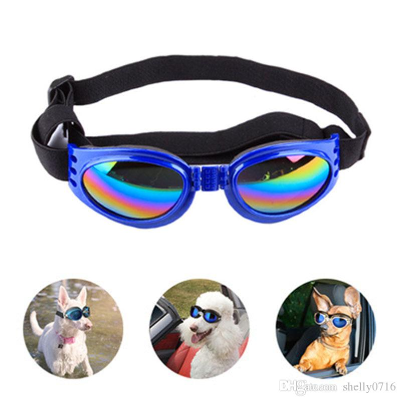 Dog Protection Goggles UV Sunglasses Foldable Pet Dog Glasses Medium Large Dog Pet Glasses Pet Eyewear Waterproof