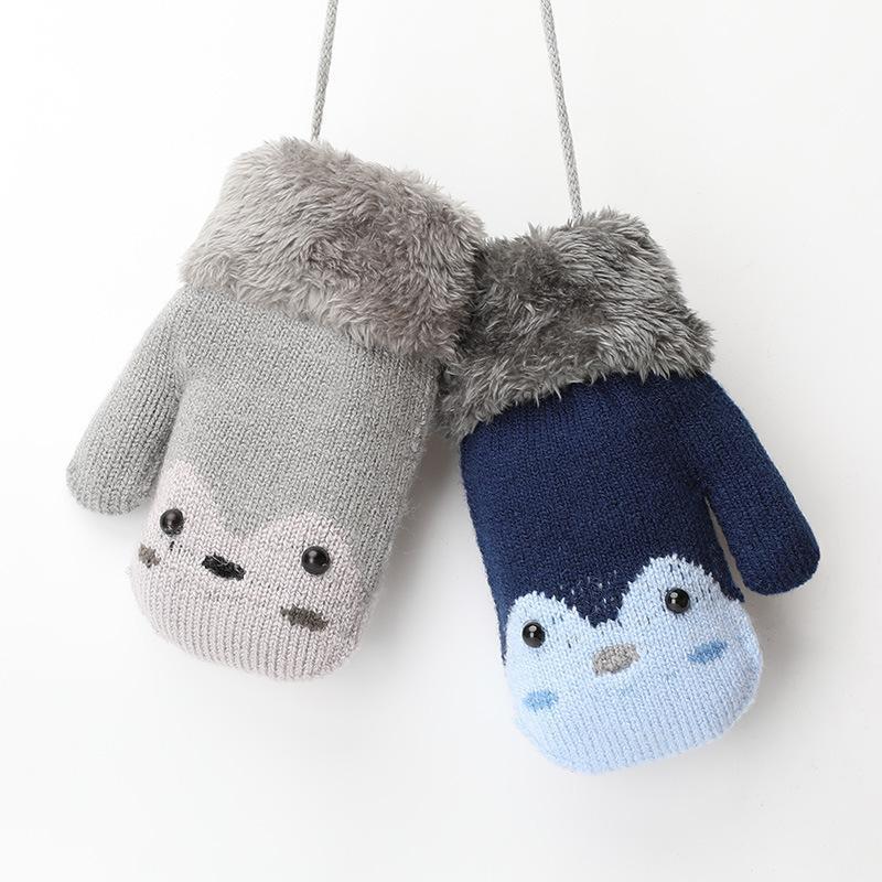 ab93873fc723 Children S Gloves Knitted Woolen Wool For Boys And Girls To Keep ...