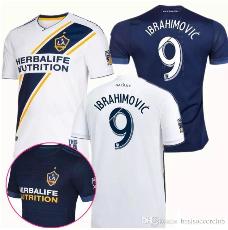 2019 LA Galaxy Soccer Jersey 2018 IBRAHIMOVIC 18 19 Los Angeles Galaxy  Camisa GERRARD GIOVANI BECKHAM DOS SANTOS KAMARA LA Galaxy Maillot De Foot  From ... 5ffb138c0