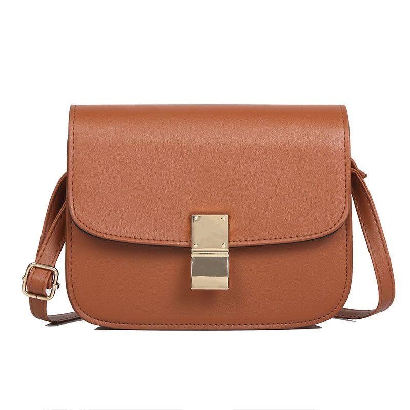 46c83f6d6466 New Simple Women Leather Mini Shoulder Bag Casual Temperament Messenger  Bags Flap Fashion Girls Classic Vintage Crossbody Bag