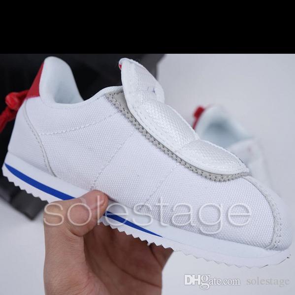 detailed look b5eaf 50600 Kids Cortez Basic Slip Kendrick Lamar Red White Black Designer Baby Girl  Boy Children Sneaker High Quality House Running Shoes 22-35