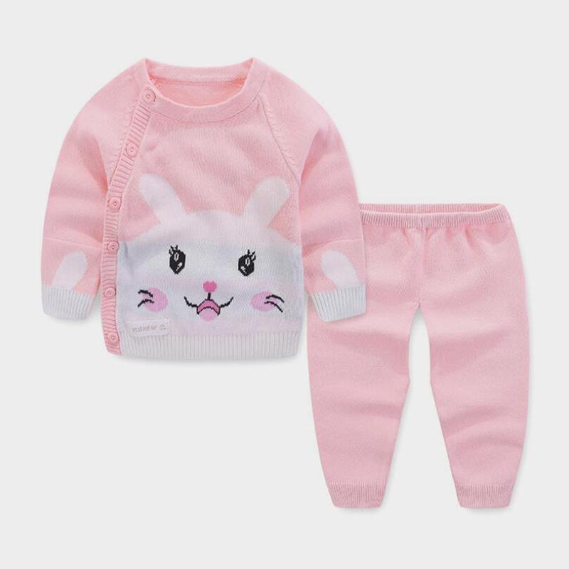 8ba8a5b1b 2019 Newborn Baby Sweater Set Spring Autumn Toddler Cardigan ...