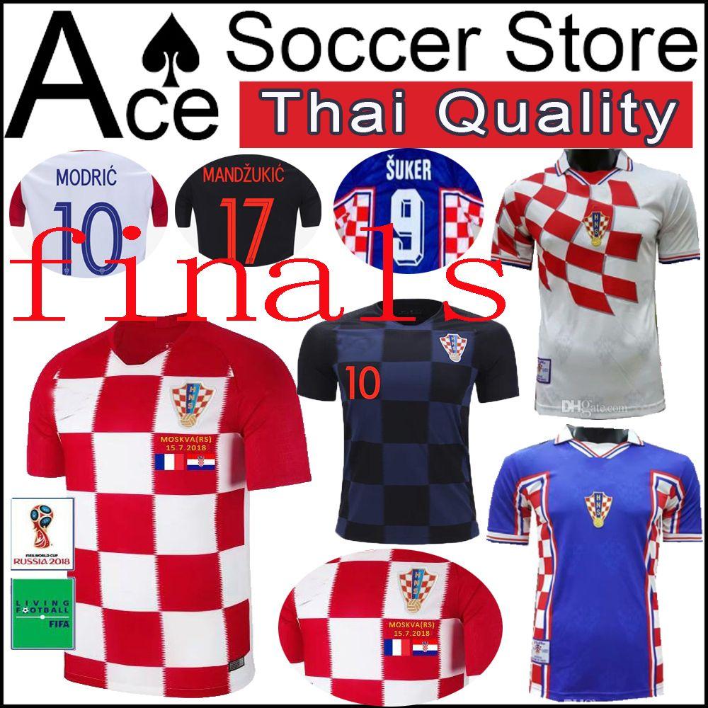 buy online 3d4e3 c0d9e 4 PERISIC 7 RAKITIC soccer Jersey 2018 World Cup 8 KOVACIC 9 KRAMARIC  finals Home 10 MODRIC 17 MANDZUKIC 9 SUKER Retro 1988 Edition 88 89