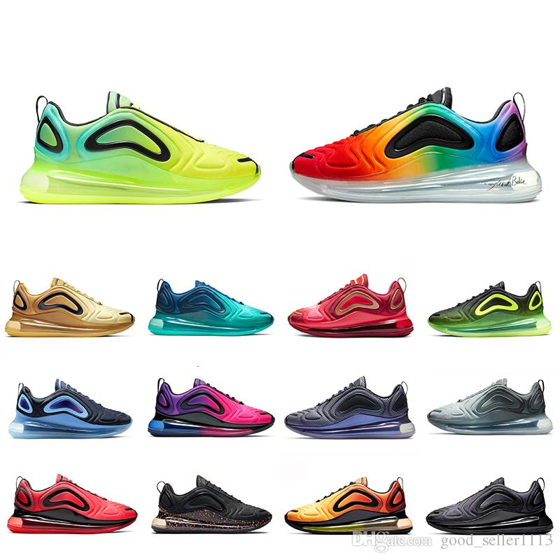 NIKE AIR MAX 720 Shoes Zapatillas de running Be True Obsidian Volt para hombres mujeres Spirit Teal Black Speckle Easter Pack Sea Forest Zapatillas
