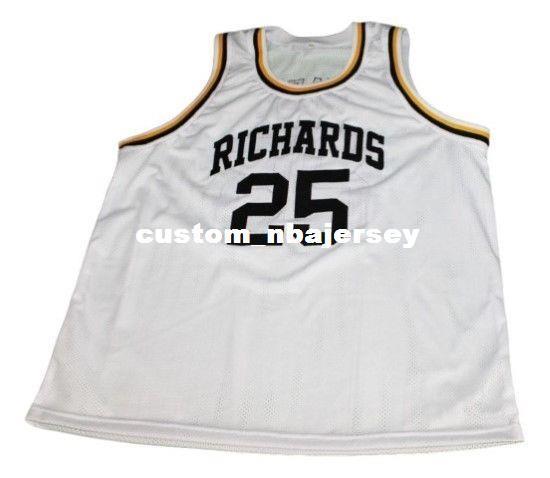 fcfec996c68 ... t shirt 4x large 8caa2 62e5e  sale 2019 wholesale dwyane wade 25  richards high school basketball jersey white stitched custom any number
