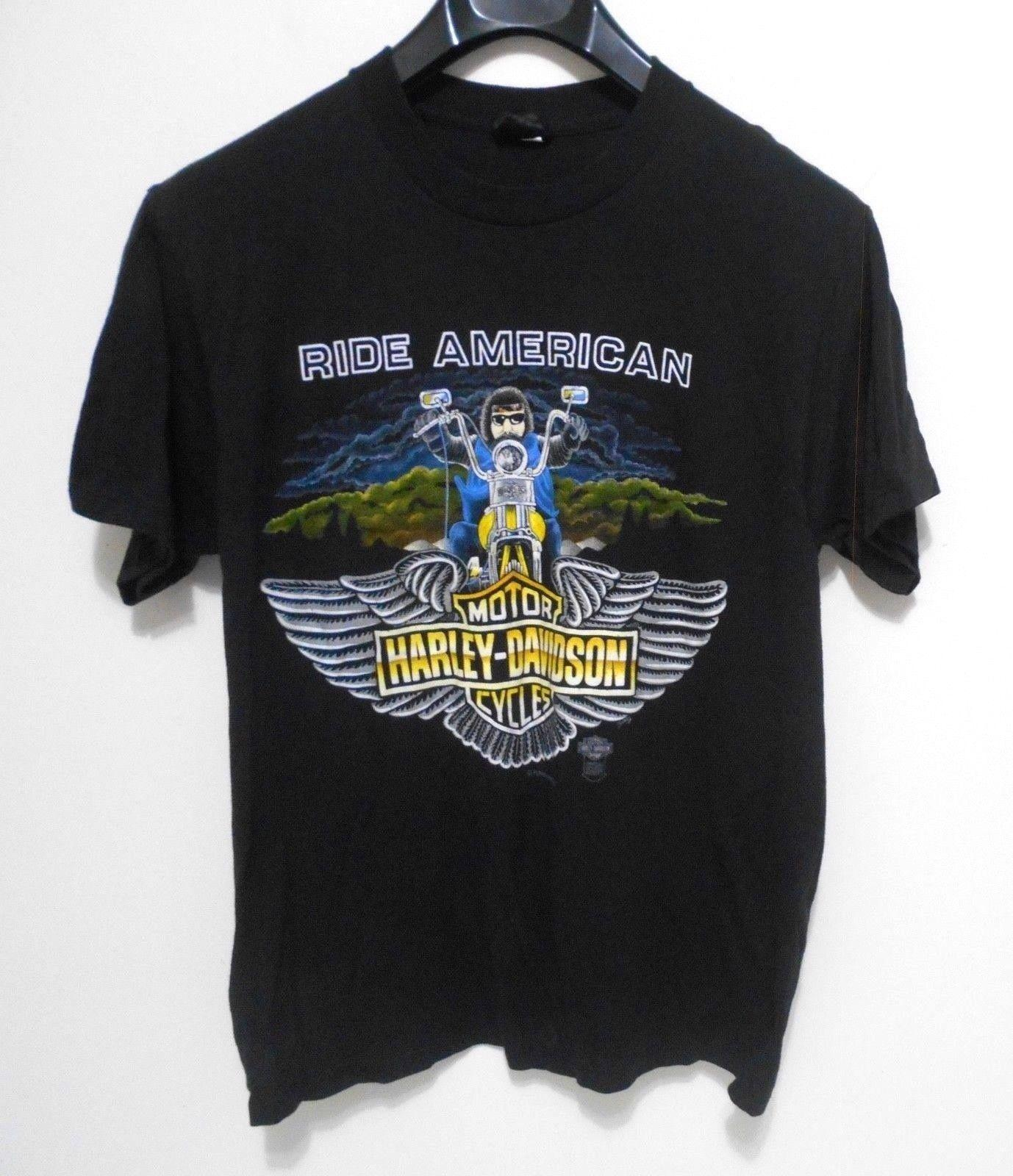Vintage Harley Davidson Ride American T Shirt Men S Size M 1985