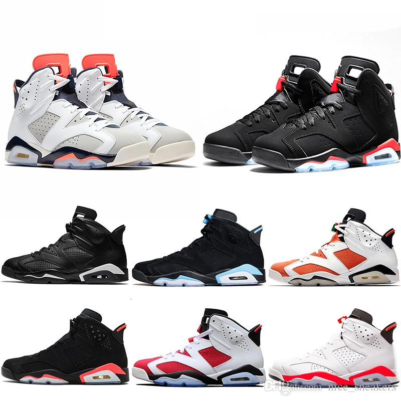 on sale 838ef 9fee8 New Bred Men 6 6s Basketball Shoes Tinker UNC Black Cat White Infrared Red  Carmine Toro Mens Designer Trainer Sport Sneaker Size 41 47 Girls Basketball  ...