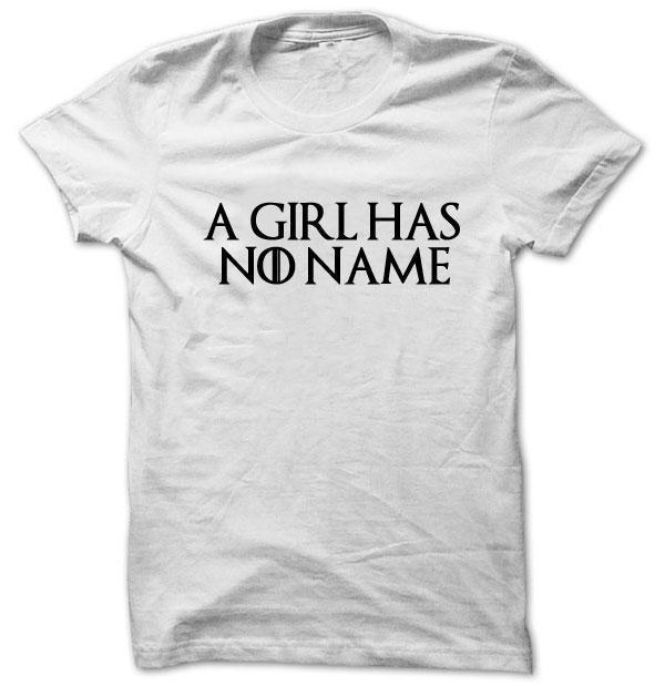 Großhandel Arya Shirt Ein Mädchen Hat Keinen Namen Thrones Spiel