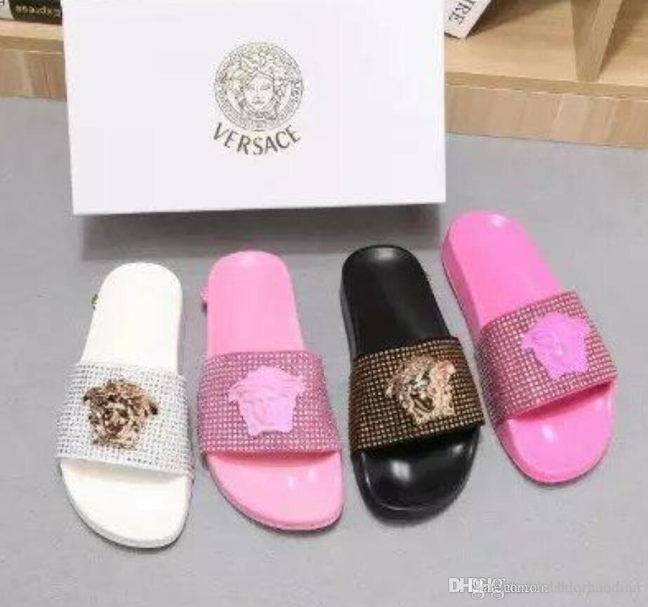 09307e8a7058c6 Top Men Women Sandals with Correct Flower Box Dust Bag Designer Shoes snake  print Luxury Slide Summer Fashion Wide Flat Sandals Slipper