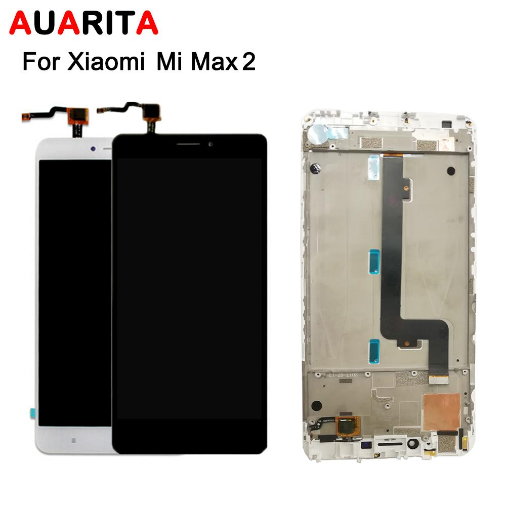 1pcs/lot lcd For XiaoMi MI MAX 2 LCD Display+Touch panel Screen Digitizer with frame Assembly For XiaoMi MAX2 Cell Phone