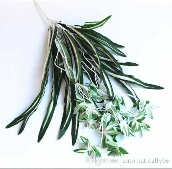 Fake flower silk imitation Cymbidium plant wall green plant wall hanging decorative flower rattan vine wall hanging flower