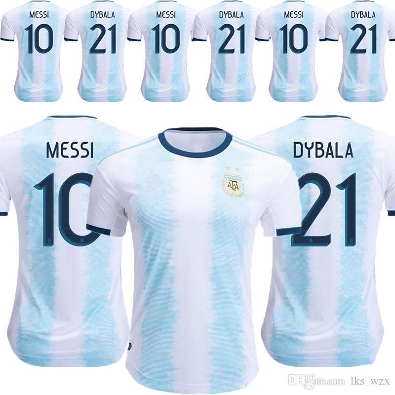 wholesale dealer 4e3c7 7c971 The New Thailand Argentina soccer jerseys copa america MESSI DYBALA HIGUAIN  ICARDI Camisetas cheap and fine soccer jersey