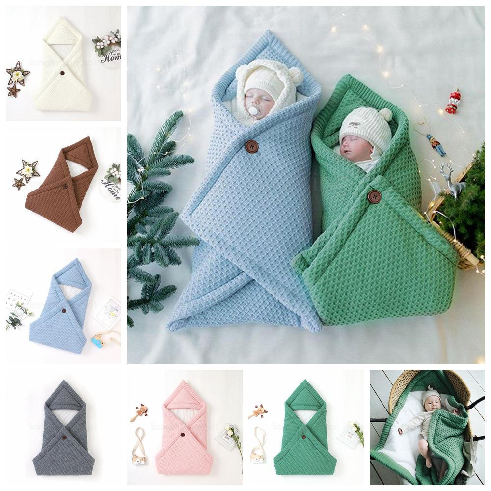 6styles Baby Blankets Knit Bubble Dot Swaddle Anti-kick Crochet Wraps Carpets Holding Strollers Blanket Breastfeeding Blanket FFA2957