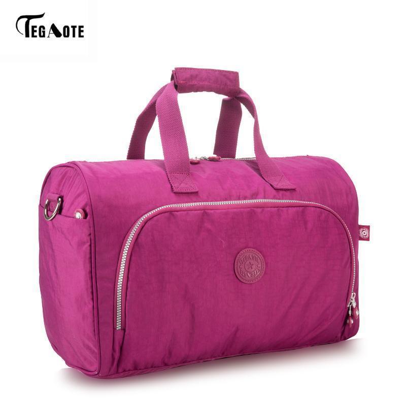 Tegaote Men S Travel Duffle Bag Large Capacity Portable Handbags Nylon  Waterproof Luggage Bolsas Female Beach Bag Shoulder Bags Man Bags From  Derrick86 cc1e29fa95f8c