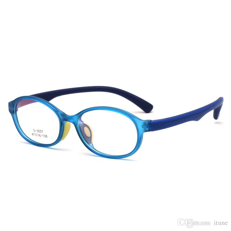 Ful-Rim TR90 Soft Silicone Short Sight Shortsighted Eyeglass Frame Lightweight 13g plain glass spectacles for Kids Children S3007