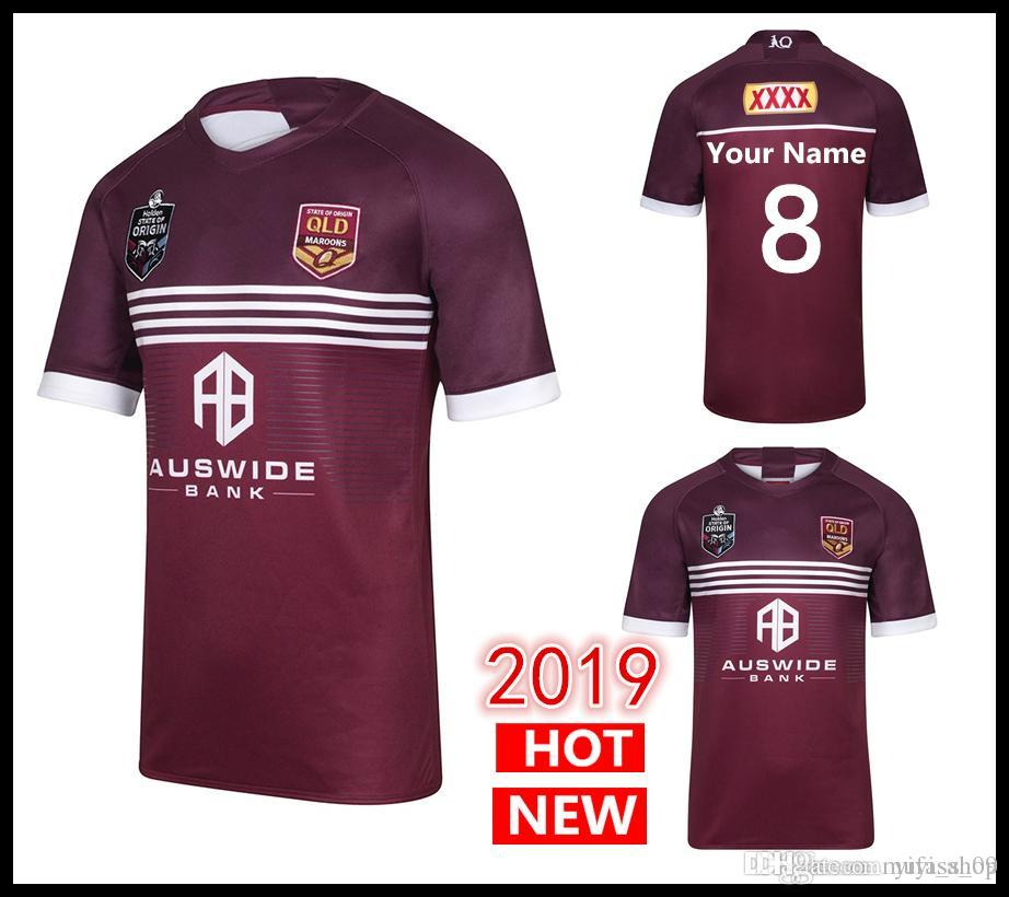 2019 2020 MENS MAROONS JERSEY Queensland Maroons Men State of Origin Jersey  QLD rugby Jerseys NRL National Rugby League shirt s-5xl