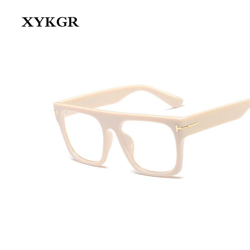 8fc55ba6c5b 2019 XYKGR New Women S Optical Computer Glasses Frame Large Frame Square  Black Box Leopard Glasses Men And Women From Byuild