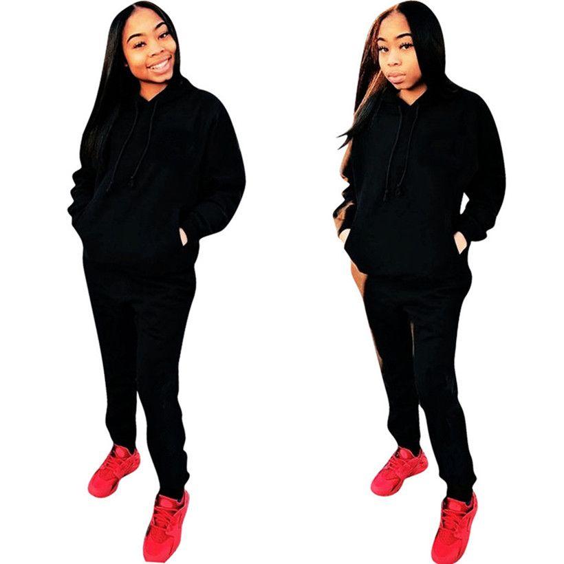 2019 Brand Designer Women Jogger Hoodie Set Outfits Letter Sweatshirt  Sportswear Sweatsuit Pant Sports Suit Winter Tracksuit Wholesale From  Mara 1 80186175c