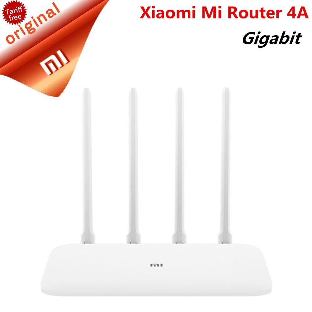 Original Xiaomi Router 4A Dual Band Gigabit Edition 2 4GHz 5GHz WiFi 16MB  ROM 64MB DDR3 High Gain 4 Antennas Remote APP Control