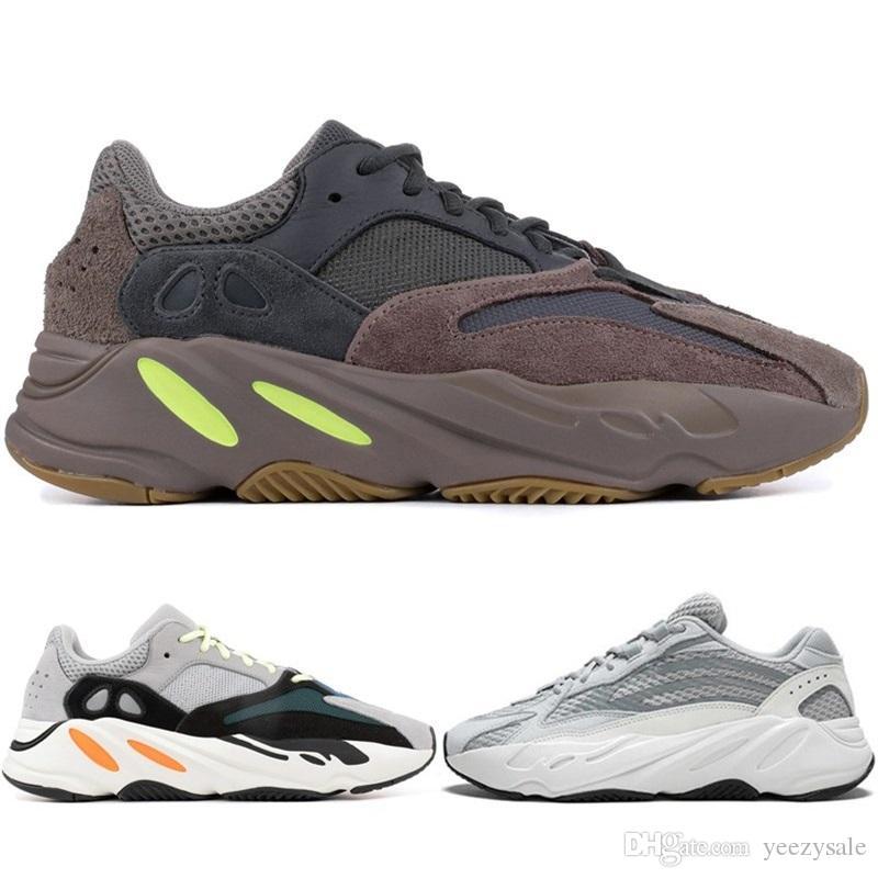hot sale online d3eed 0a269 La Mejor Calidad Kanye West Wave Runner Adidas Yeezy 700 V2 Estático Malva  Sólido Gris Zapatos Deportivos Para Correr 2019 Nuevos Hombres Mujeres  Zapatos ...