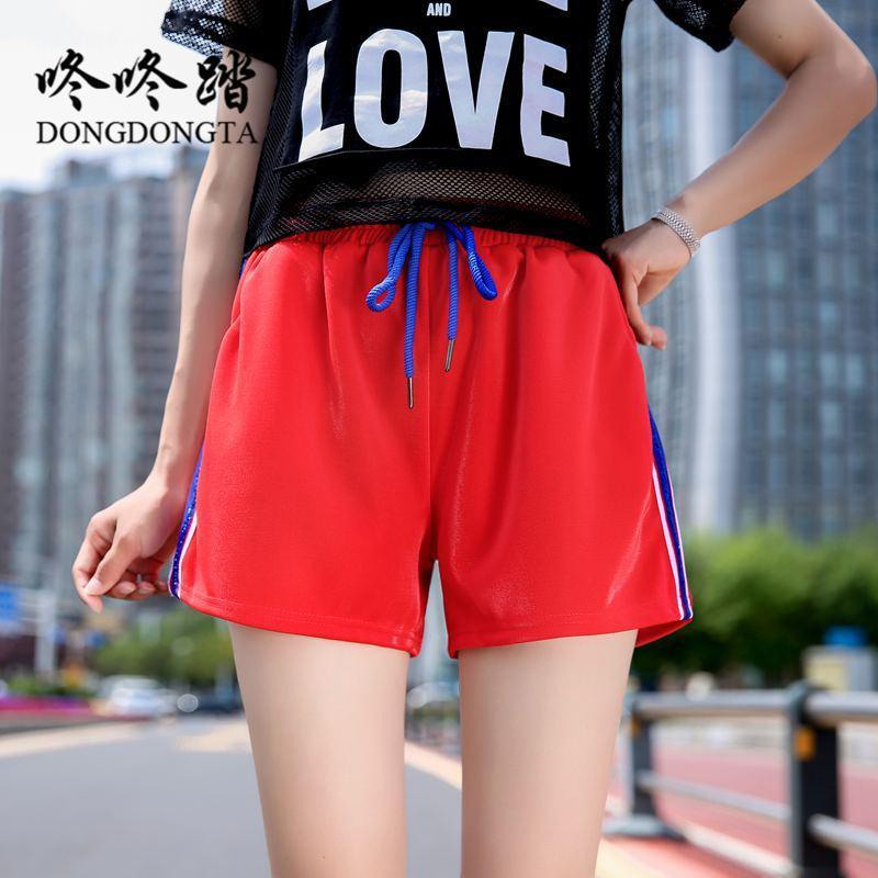 346c8efbf451 DONGDONGTA 2019 Nuevo Verano Moda Mujer Shorts Joven Señoras Pantalones  Cortos Cuatro Colores Venta Caliente Jeans