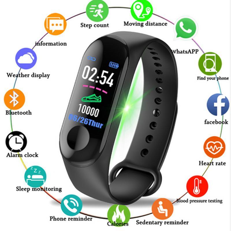 35b1848a Купить Оптом 2019 Новый Смарт Спортивные Часы Цветной Экран Шагомер Фитнес  Bluetooth Smartwatch Для Мужчин Женщин Браслет Наручные Часы Ip67 C19041301  ...