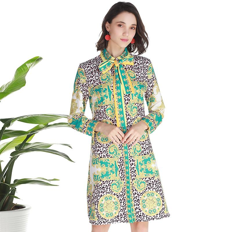 ab71a4ff903 2019 Summer Leopard Print Tie