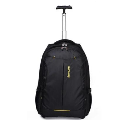 Rolling Backpack Women Trolley Backpack Bag Travel Wheeled Luggage Bag Men  Business Luggage Suitcase On Wheels Laptop Bags Totes From Fabcollect a33dfdf36a