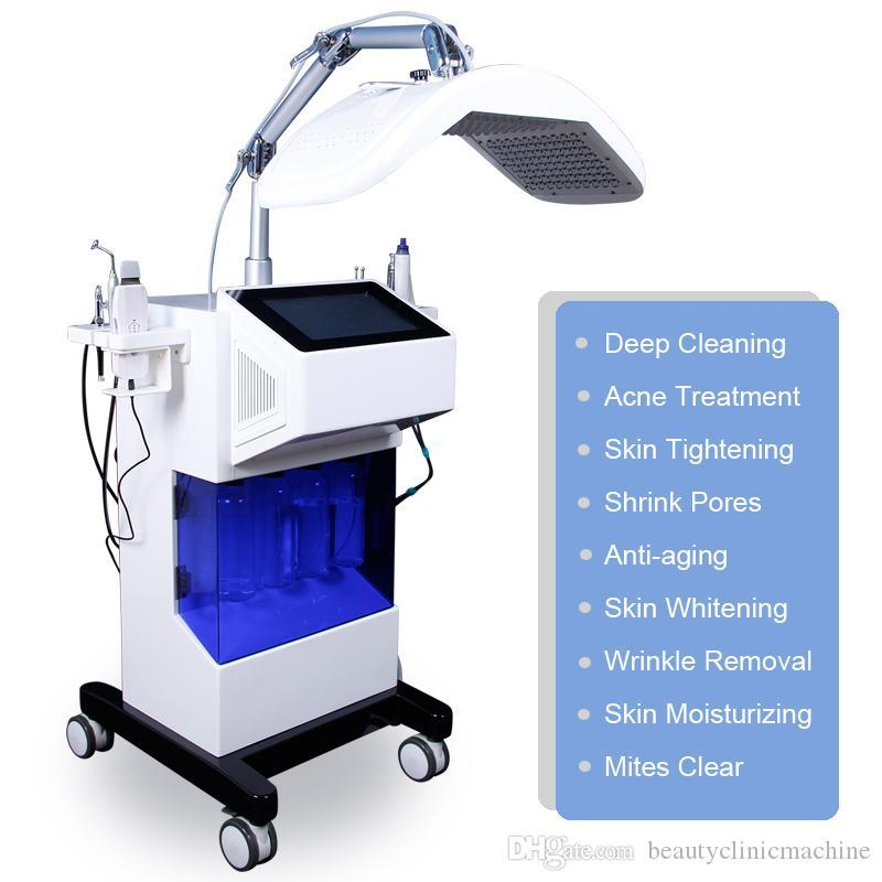 New Arrived 8 in 1 Hydro Dermabrasion Hydra Facial Machines Hydrafacial Aqua Dermabrasion Spray Gun Skin Scrubber RF BIO