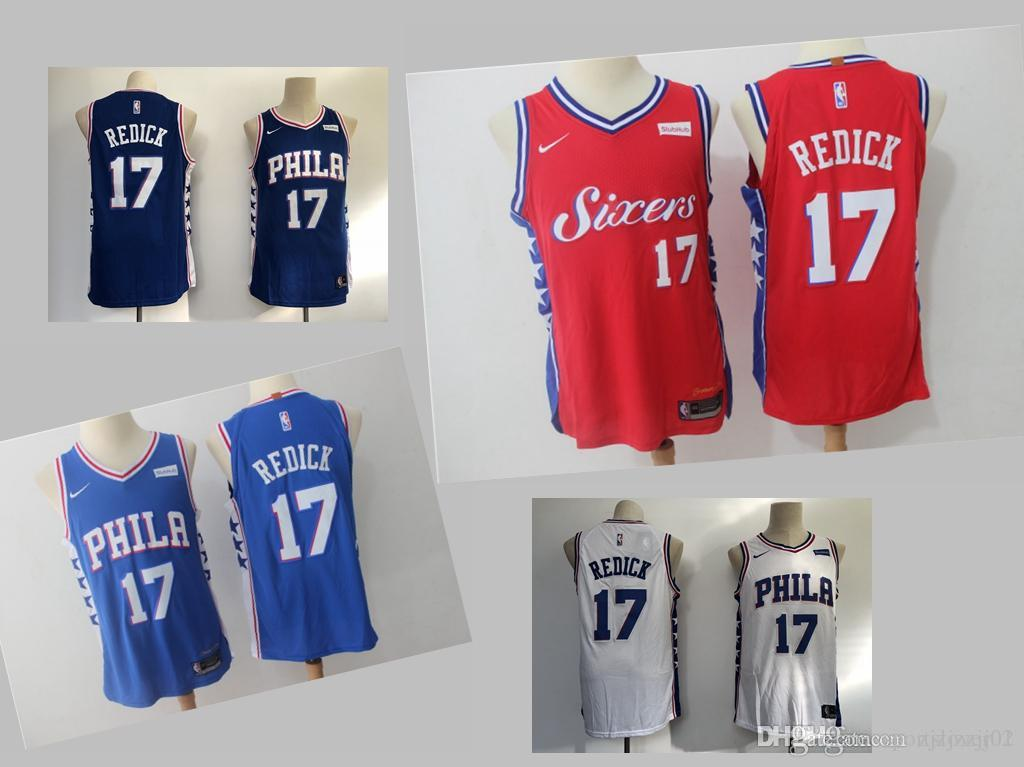 save off 23bb7 87c67 2019 18 17 JJ Redick 76er Jersey The City Philadelphia 21 Embiid 25 Simmons  Basketball Jersey NEW