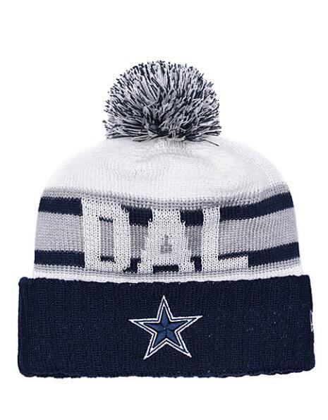 e2a0ee3f1e Compre 2019 Moda Dallas Cowboys Winter Cuffed Knit Sombreros Para Hombres  Mujeres Unisex Adultos Lana Skullies Sombrero Gorros Casual Gorros  Calientes A ...