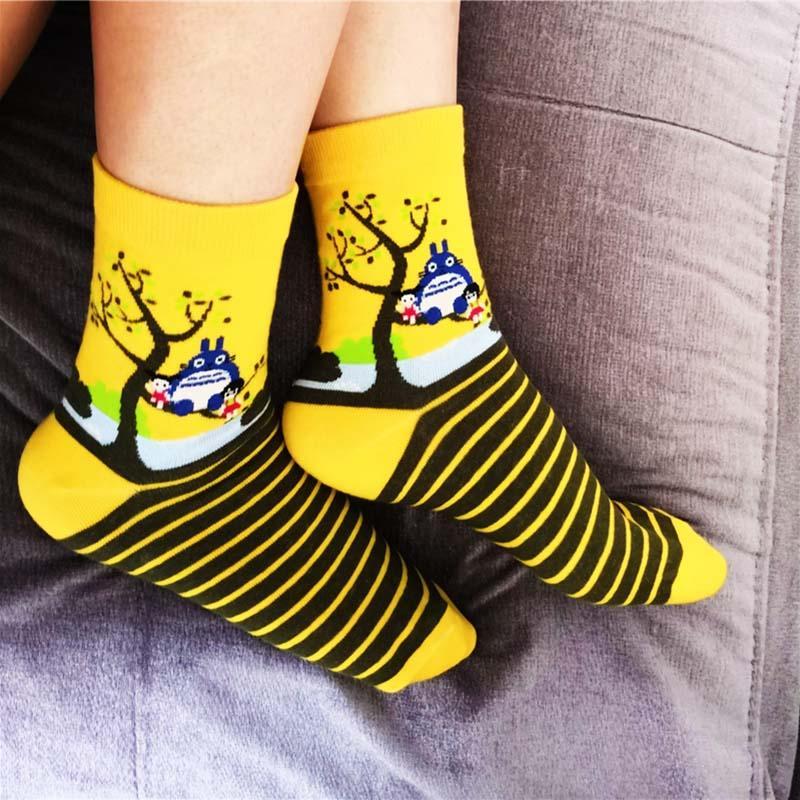 totoro sock cotton cute cartoon socks women studio ghibli japanese  childhood style 10 pairs/lot