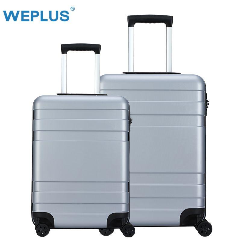 67cf7ed315260 Satın Al WEPLUS 2 Adet / Takım Rolling Bagaj Renkli Seyahat Bavul Dönücü  Tekerlekler TSA Kilit Arabası Erkekler Kadınlar Üzerinde Taşımak 20 24 Inç,  ...