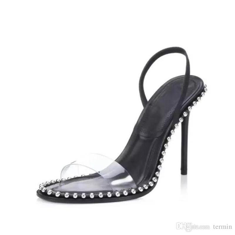 9bcfbd01cb80 2019 Summer New Women S High Heel Sandals Transparent Style Sexy Women S  High Heels Simple And Stylish Metal Ball Decoration Shoes TY 39 Sandals For  Men ...
