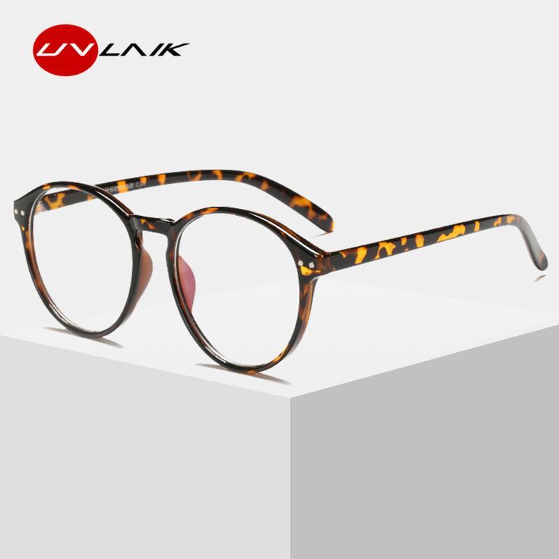 ebdd60f445 2019 UVLAIK Optical Clear Glasses Frame Men Women Vintage Round Eyeglasses  Retro Handmade Circle Clear Lens Transparent Glasses From Junemay
