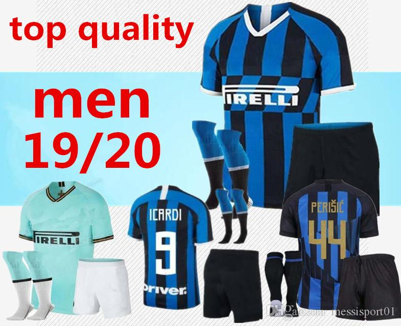 sports shoes 06cb4 e6040 2019/20 inter Soccer jersey adult kit with socks ICARDI PERISIC 19/20 milan  20TH ANNIVERSARY new inter Maillot de foot football shirts kit