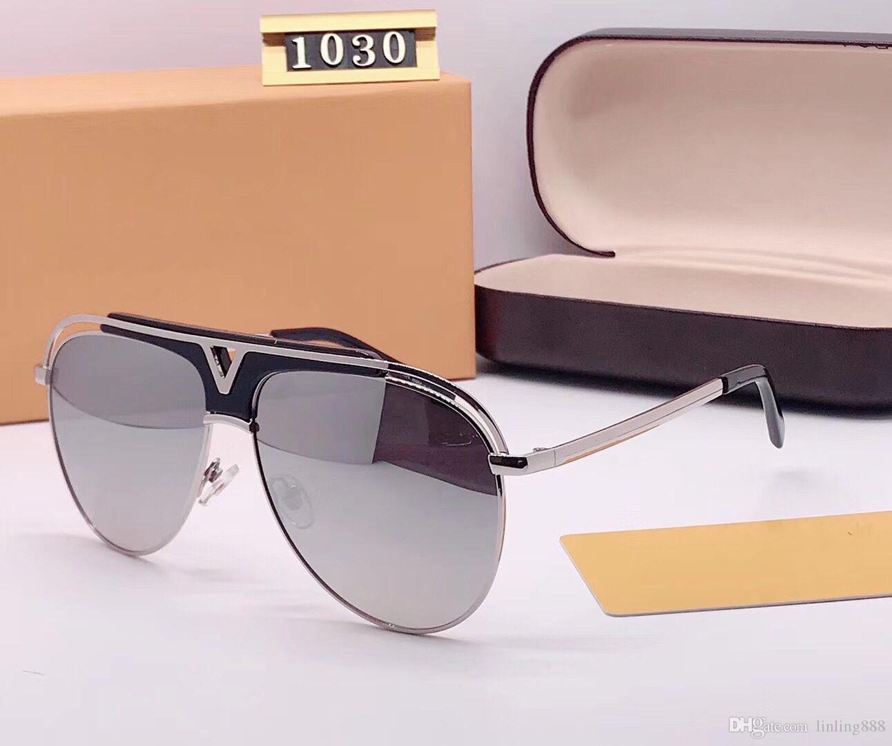 ef80a6fd7 Compre A Mais Recente Venda De Moda Popular Homens Designer De Óculos De Sol  Uv400 Placa Quadrada Combinação De Metal Quadro De Alta Qualidade Anti  UV400 ...