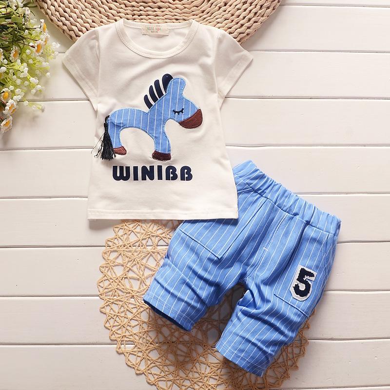 586ed89f8 Calidad Niños bebés Ropa para niñas Conjunto Niños camiseta + Pantalones  Conjunto Niños Dibujos animados ropa de cebra Trajes casuales Conjunto ...