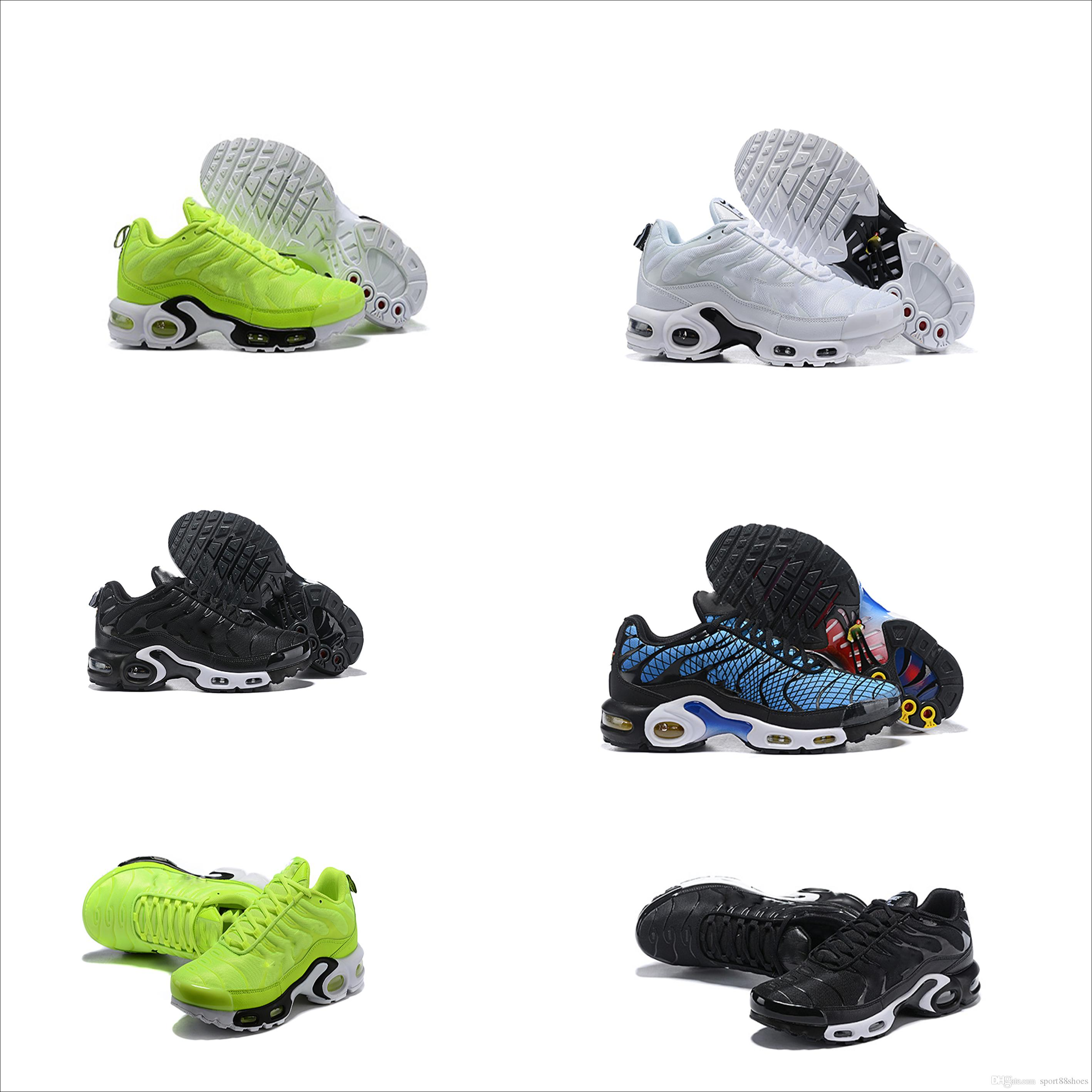 875e07a1fa3697 2019 NEW Tn Plus Greedy Mens Running Shoes OG Plus Tn Black White  Chaussures Tn Homme Prm Sports Rquin Athletic Outdoor Sneaker Barkley Shoes  Shoes Jordans ...