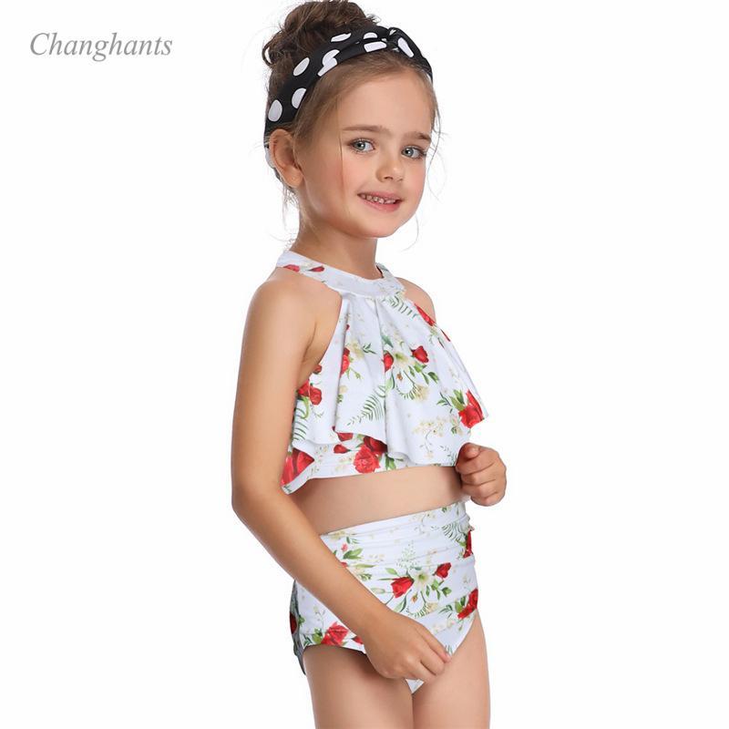 5046ef644 2019 2019 New Model Kid Girl Bikinis Set Red Orange White Two Piece Swimwear  Swimsuit Girls Swim Wear Bathing Suits Swimming Suit From Biaiju, ...