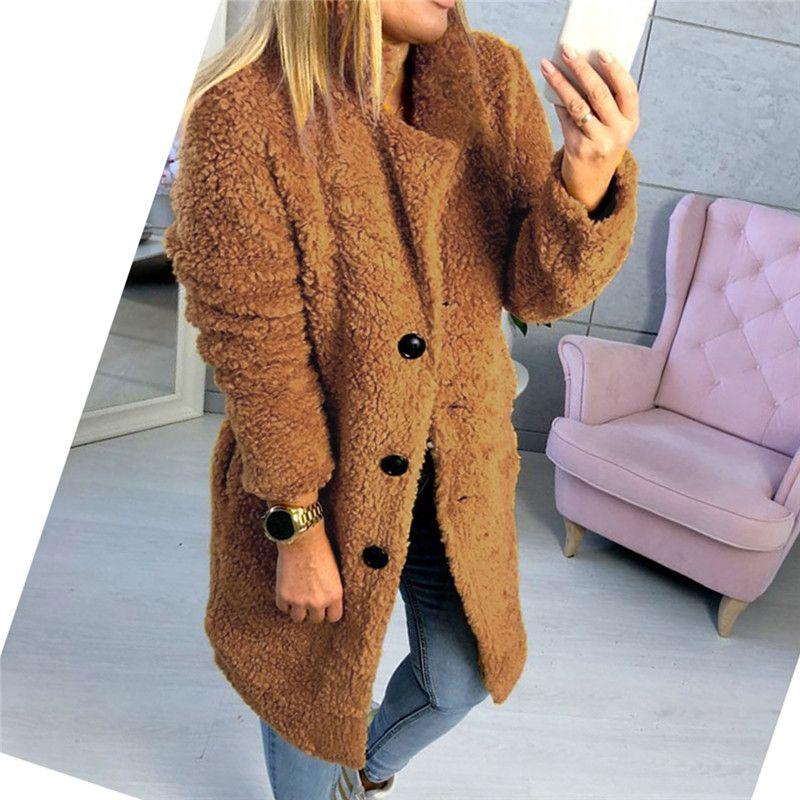 en soldes 6b463 d8131 K-Fourrure Manteau Hiver Femmes Manteau Teddy Bear Fleece Fur Fluffy Femme  Veste Jumper Outwear Manteaux De Fourrure Surdimensionné Fluffy Jacket
