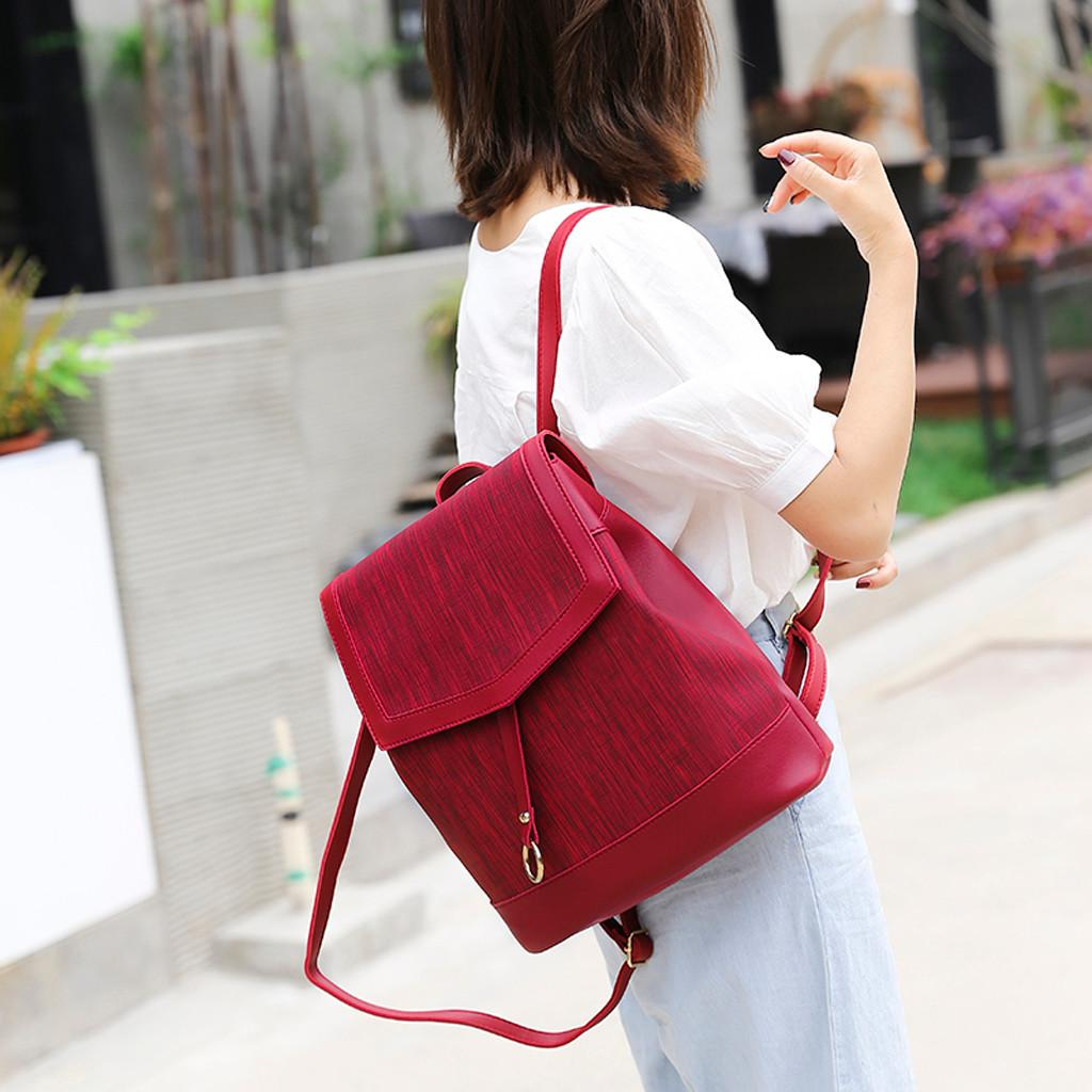 OCARDIAN Fashion Damen High Quality Leder Zip Outdoor Einfache Solid Color Rucksack Adrette Student mochilas Taschen Jul11