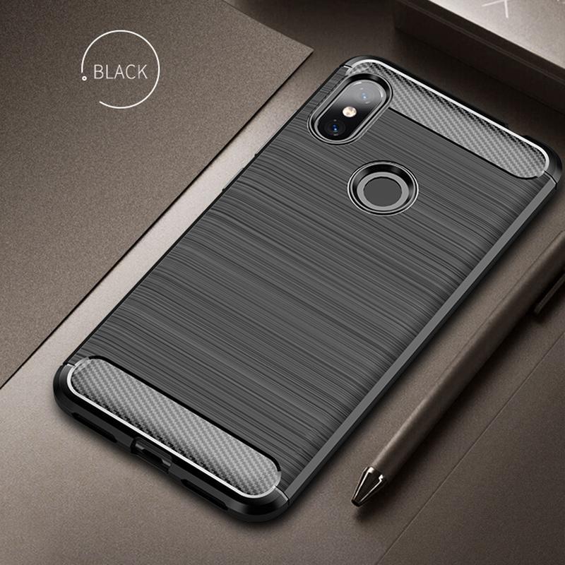 promo code 62600 19132 For Xiaomi Redmi Note 6 Pro Case Soft Silicone Brushed Carbon Fiber Xiomi  Redmi Note6 6a Rugged Armor Tpu Phone Cases Cover