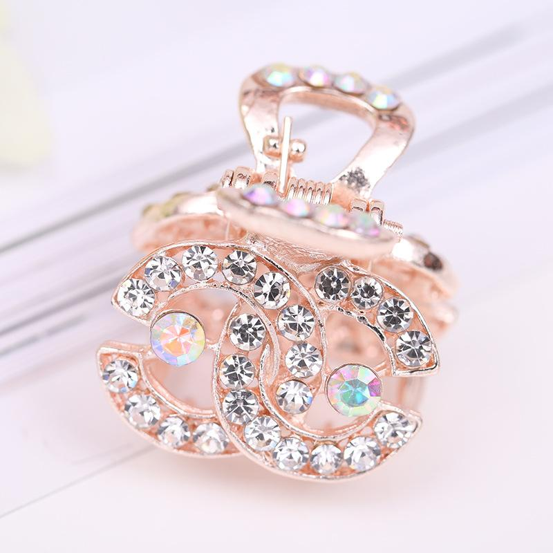 Korean version of exquisite diamond bangs hook clip hair ornaments